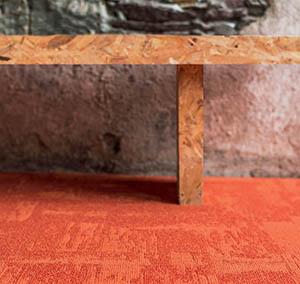 Collectie Infini Colors tapijt tegel Rock orange