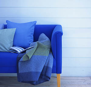 Inspiratie kleuren deco banken blauw