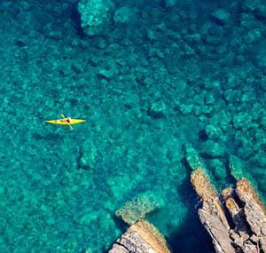 Inspiratie deco oceaan luchtfoto kano zee